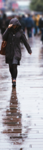 rainy woman